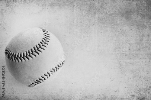 Black and white grunge baseball background.