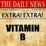 vitamin b, article text in newspaper