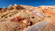 Valley of Fire's Rainbow Vista.  Super colorful landscape in Valley of Fire State Park, Nevada