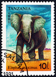 Postage stamp Tanzania 1991 Asian elephant