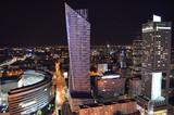 Centrum Warszawy letniej nocy/Warsaw downtown by summer night, Mazovia, Poland - 136750381