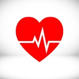 heart beat icon stock vector illustration flat design