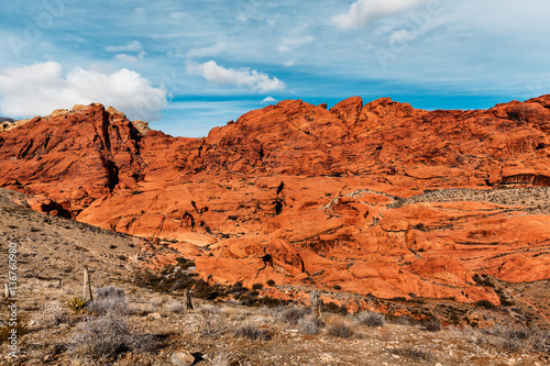 In de dag Baksteen Scenic Landscape of Red Rocks at Red Rock Canyon, southern Nevada, USA