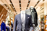 beautiful businessman suit in modern shopping mall
