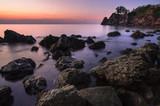 Stone area of sunset