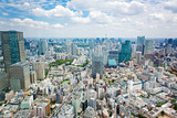 View from above on Tokyo Tower with skyline in Japan