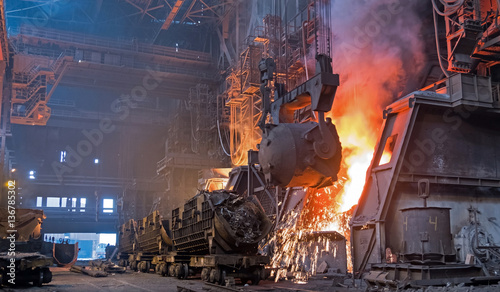 Steel production plant