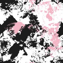 Abstract seamless vector pattern. Black and pink © ollysweatshirt
