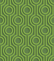 Greenery arabic style latice pattern.