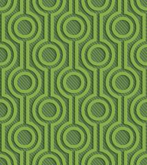 Greenery arabic style latice pattern.