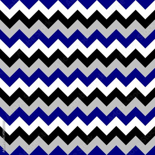 Chevron pattern seamless vector arrows geometric design colorful black white grey naval blue - 136815968