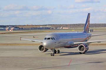 Aeroflot airplanes in airport Sheremetevo. Russia