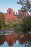 Autumn Landscape Reflection at Cathedral Rock