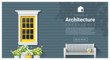 Elements of architecture , window background , vector ,illustration - 136840914