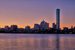Boston Skyline at Sunrise Seen from Cambridge