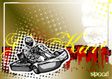 go kart poster background