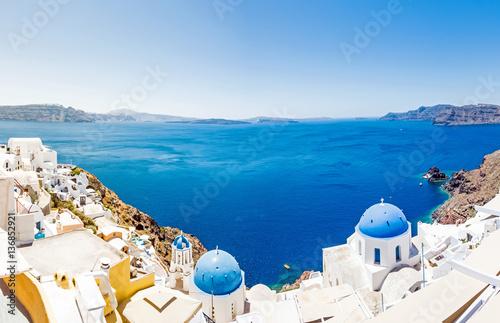 Panorama, Oia, Santorin, Griechenland