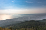 Foggy view of gulf of Naples