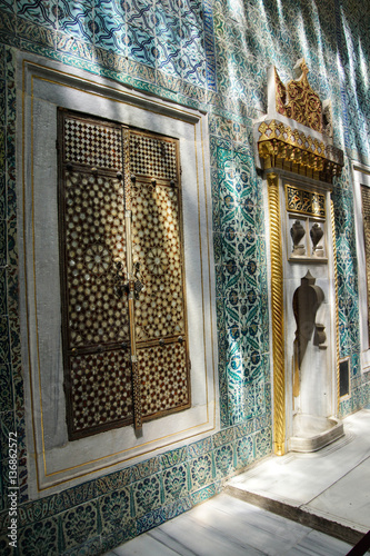 Poster Inlaid doors and mosaic tiles
