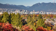 Vancouver City showing its Autumn Colors on a bright sunshiny day