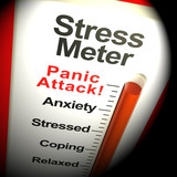 Stress Meter Showing  Panic Attack From Stressing 3d Rendering