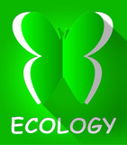 Ecology Butterfly Shows Earth Day 3d Illustration