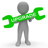 Upgrade Spanner Indicates Update Upgrades 3d Rendering