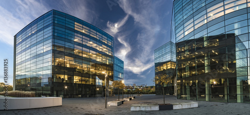 Modern office buildings © Mike Mareen