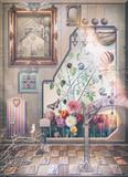 Interior surreal-Dreams garden in the closed room