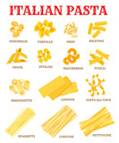 Italian cuisine pasta list poster for food design - 136887361
