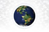 ポリゴン デザイン 地球