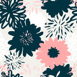 Abstract Floral Pattern - 136890923