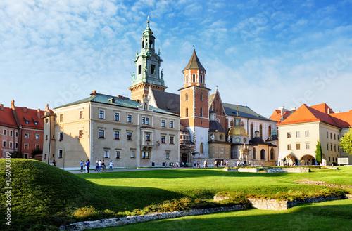 Zdjęcia na płótnie, fototapety na wymiar, obrazy na ścianę : Krakow, Wawel castle in Poland
