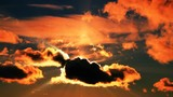 Dramatic sunset clouds time-lapse