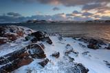 Sunrise on the Barents Sea. Teriberka, Murmansk region, Russia