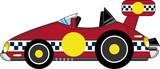 Cute Cartoon Sports Car