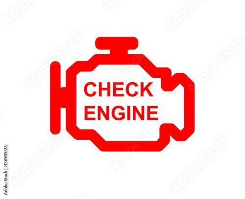 Malfunction Or Check Engine Car Symbol Dash Board Close Up Buy