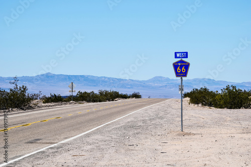 Route 66, near Chambless, California Poster