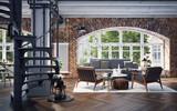 modern industrial Loft apartment - 136910942