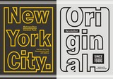 Vintage New York City Typography Design For Tshirt, Poster, Vector.