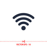 Wireless Icon, vector illustration. Flat design style