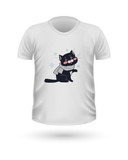 T-shirt Front View with Animals Isolated on White