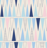 seamless hand drawn pattern with triangles
