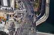 工事中の道路を俯瞰