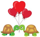 Valentine turtles theme image 2