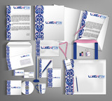 Corporate Identity set. Beautiful abstract business set statione