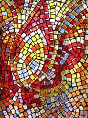 buntes hinterleuchtetes Glasmosaik