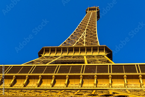 Eiffel Tower view from Champ de Mars. Paris, France Poster