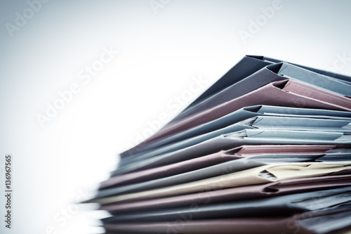 Pile of document files