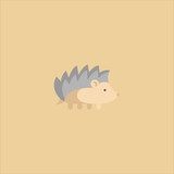 Hedgehog icon flat design